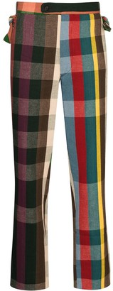 Bode High-Waisted Plaid Trousers
