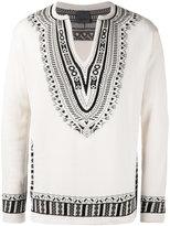 Laneus knit V-neck jumper