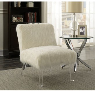 Overstock Suffolk Contemporary Faux Sheepskin Accent Chair