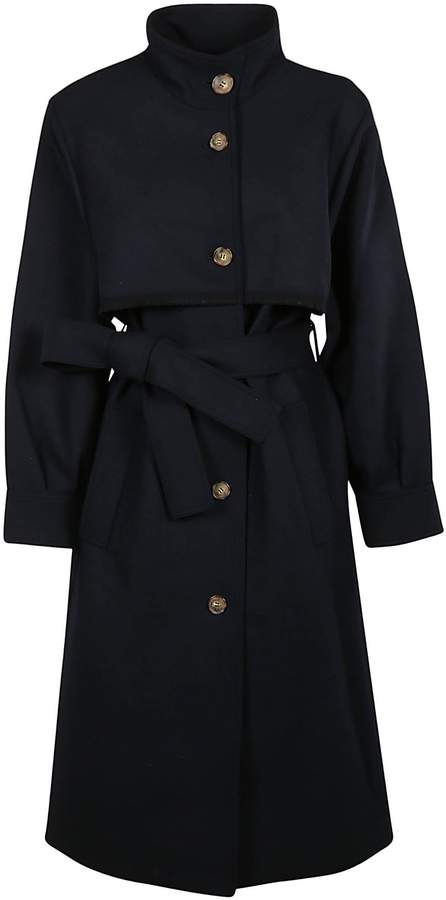 Victoria Beckham Single Breasted Trench