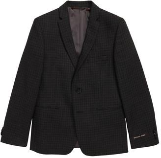 Michael Kors Mini Grid Wool Blend Sport Coat