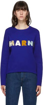 Marni Blue Logo Sweatshirt