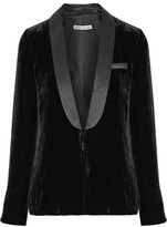 Elizabeth and James Ambrose Satin-trimmed Velvet Blazer - Black