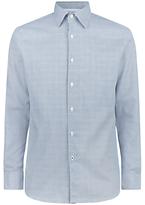 Aquascutum Tobias Check Shirt, Light Blue