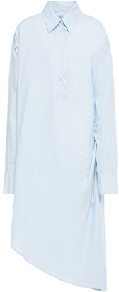 MM6 MAISON MARGIELA Oversized Asymmetric Cotton-poplin Midi Shirt Dress