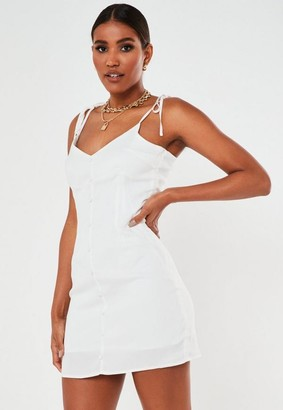 Missguided Button Through Cami Dress