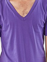 American Apparel Men's Unisex Fine Jersey Short-Sleeve V-Neck