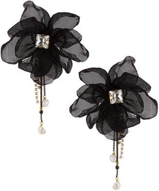 Stella & Ruby Chiffon Stud Earrings, Black