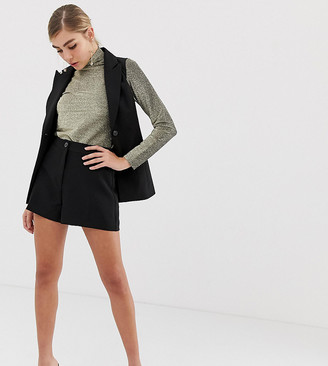 Miss Selfridge tailored shorts in black