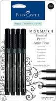 Faber-Castell Mix and Match Pitt Artist Pens - 4-pack Black Essential