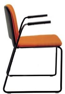 Lips Stackable Chair Segis U.S.A Outside Seat Finish: Black, Inside Seat Upholstery: Momentum Beeline Vinyl Canvas, Frame Finish: Chrome