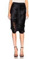 Dion Lee Silk Satin Bias Stack Skirt