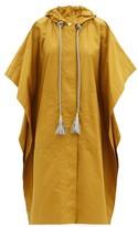 Ssōne Ssone - Block Hooded Coated-cotton Poncho - Womens - Tan
