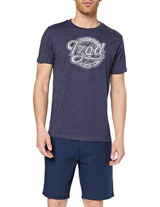 Izod Men's Athletic Script Graphic TEE T-Shirt,L