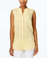 Charter Club Linen Embellished Shirt, Only at Macy's
