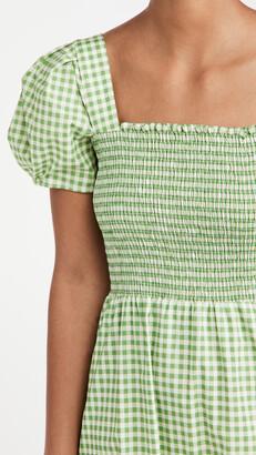 HVN Smocked Fromer Square Neck Dress