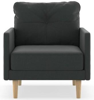 Corrigan Studio Cowan Armchair Upholstery Color: Aubergine, Leg Color: Black
