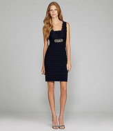 Betsy & Adam Embellished Shutter Pleated Dress