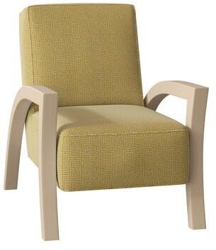 Hekman Jasper Armchair Body Fabric: 4023-072, Leg Color: Antique Vanilla, Nailhead Detail: Brass