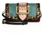 Burberry Faygate Patchwork Multicolor Snakeskin, Calf Hair, Leather & Suede Shoulder Bag