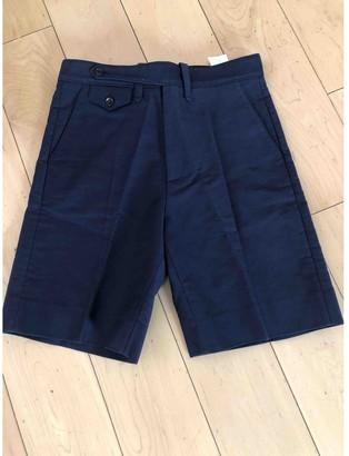 Gucci Blue Cotton Shorts