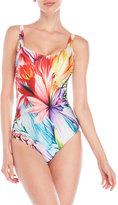 Gottex Spring V-Neck One-Piece Swimsuit