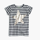 J.Crew Girls' striped T-shirt with metallic star