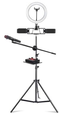 """Ring Light Tripod Mobile Lamp Base or Clamp OMFG Size: 94"""" H x 10"""" W x 10"""" D"""