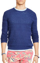 Polo Ralph Lauren Linen-Cotton Crewneck Sweater