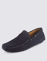 Blue Harbour Suede Saddle Driving Shoes With Stain Resistance