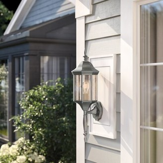 Three Posts Shelburn Outdoor Wall Lantern Fixture Finish: Painted Bronze, Bulb Type: 100W Medium Base