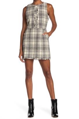 Adelyn Rae Plaid Tweed Mini Dress