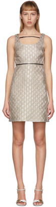 Gucci Silver Heritage GG Lame Short Dress