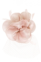 Quiz Mauve Flower Net Fascinator