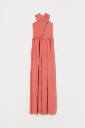 H&M Long halterneck dress