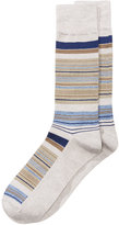 Perry Ellis Men's Heathered Striped Dress Socks