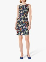 Hobbs Moira Floral Print Mini Dress, Midnight/Multi