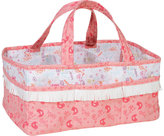 Trend Lab Wild Forever White/Pink Cotton 12-inch x 6-inch x 8-inch Storage Caddy