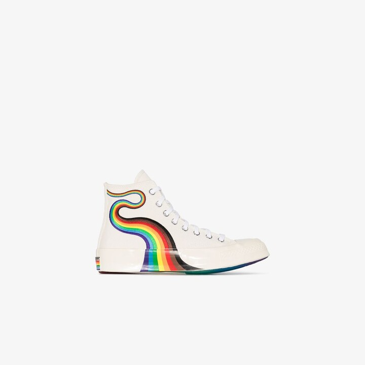 Thumbnail for your product : Converse White Chuck 70 Pride High Top Sneakers