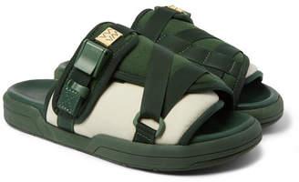 Visvim Christo Colour-Block Canvas And Rubber Sandals