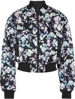Alexander Wang Printed satin bomber jacket