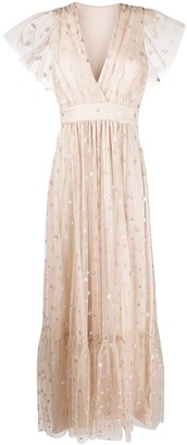 Temperley London Glitter Detail Maxi Dress