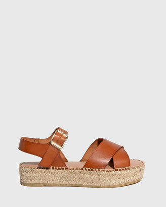 Wittner - Women's Brown Sandals - Ugata Leather Espadrille Flatform Sandals - Size One Size, 38 at The Iconic
