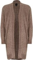 River Island Womens Light brown chenille longline cardigan