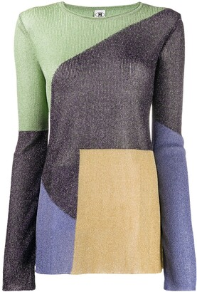 M Missoni Colour-Block Knitted Top