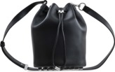 Alexander Wang Alpha soft calf silver mat black Bucket Bag