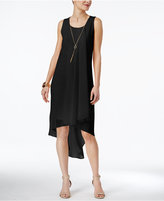 Thalia Sodi High-Low Necklace Shift Dress, Created for Macy's