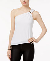 Lily Black Juniors' One-Shoulder Asymmetrical-Hem Top, Created for Macy's
