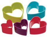 Kitchen Craft Colourworks Plastic Heart Shaped Cookie Cutters - Set of 5