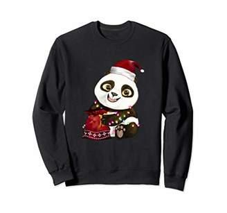 Panda Christmas Tree Lights Costume Santa Pajama Boys Girls Sweatshirt